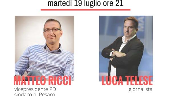Festa del PD di Mezzolara, Luca Telese intervista Matteo Ricci
