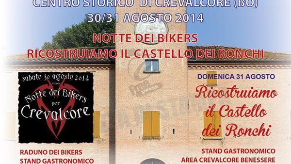 Crevalcore: notte dei Bikers, ricostruiamo il Castello dei Ronchi