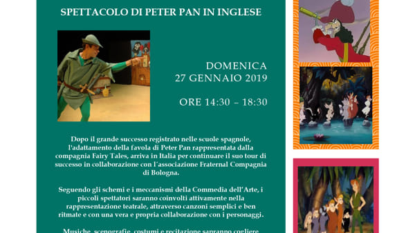 Peter Pan in inglese a San Lazzaro