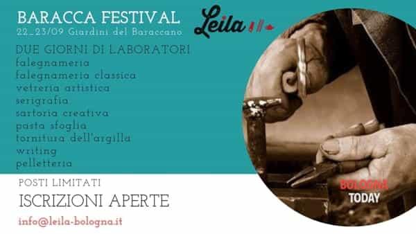 """""""Baracca Festival"""": tanti laboratori ai giardini del Baraccano"""