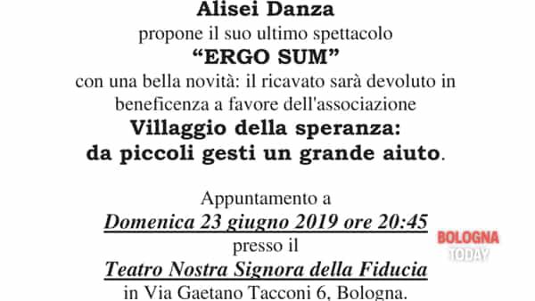 """Ergo sum"": spettacolo per beneficenza"