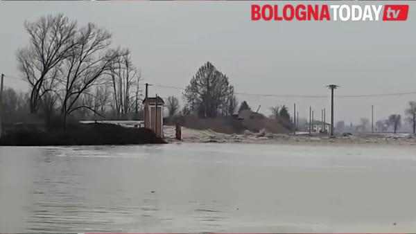 """Reno sfonda argine a Castel Maggiore. Dalla zona colpita: """"Sbagliato fare lavori a settembre"""""""