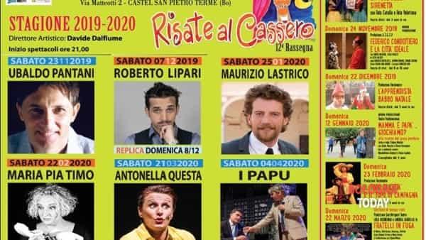 """Teatro Comunale """"Cassero"""" di Castel San Pietro: il cartellone 2019/2020"""