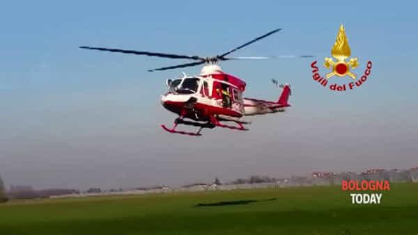Scomparsa a Granarolo, in campo anche un elicottero dei Vigili del fuoco - VIDEO
