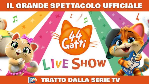 """""""44 Gatti live Show"""": una storia unica e """"gattastica"""" e le più famose canzoni dello Zecchino d'Oro"""