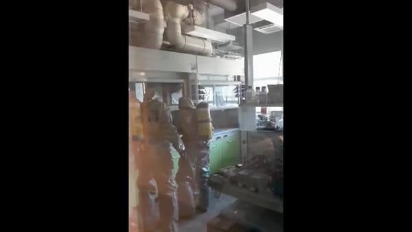 VIDEO| Via Terracini: sversamento sostanza tossica, Vigili del fuoco sul posto