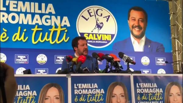 """Regionali, Salvini: """"In Emilia Romagna cavalcata eccezionale"""""""