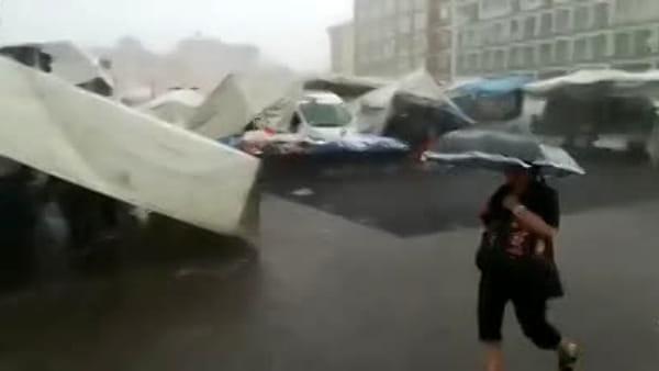 """Grandine sulla Piazzola: """"Ci siamo salvati per il rotto della cuffia""""\VIDEO"""