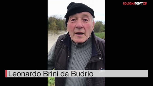 VIDEO| Allagamenti a Budrio: l'opinione di Leonardo Brini (in dialetto)