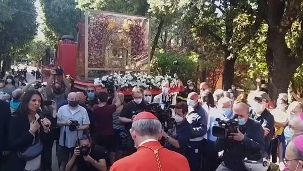 VIDEO| La Madonna di San Luca al Sant'Orsola: Zuppi ringrazia il personale dell'ospedale