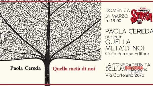 La candidata premio Strega Paola Cereda a Bologna