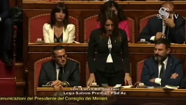 VIDEO| Governo, fiducia al Senato. Borgonzoni: 'Ladri di democrazia'
