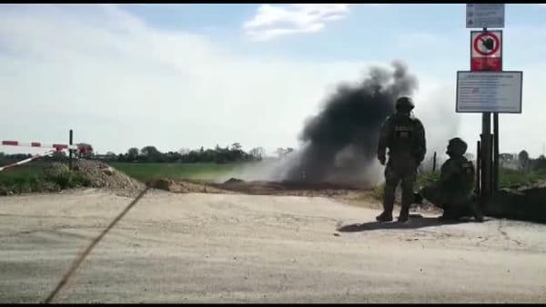 Mordano: fatta brillare la bomba bellica, fine delle operazioni