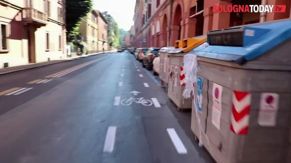 In bici sulla nuova ciclabile di via Saragozza che divide i bolognesi | VIDEO