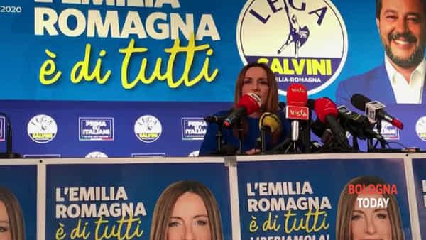 Regionali Emilia Romagna, Borgonzoni: 'Risultato storico' | VIDEO