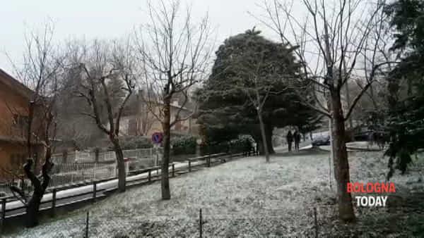 VIDEO| Neve a Bologna: Monzuno imbiancata