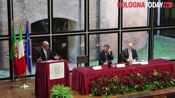 VIDEO| Il presidente Mattarella all'Unibo per il Sigillo d'Ateneo al presidente del Portogallo