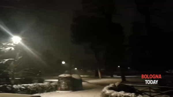 Neve a Bologna: giardini Margherita imbiancati | VIDEO