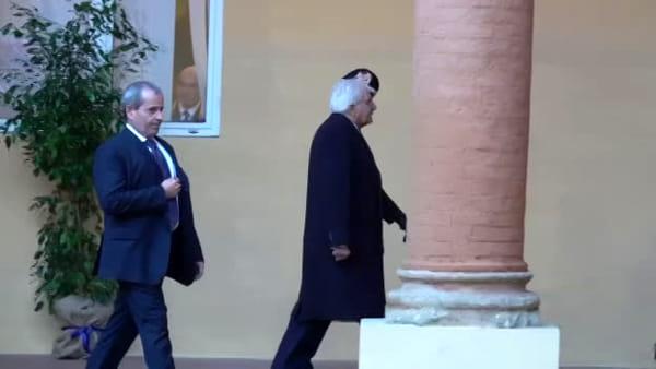 VIDEO| Il presidente Mattarella al comando dei Carabinieri