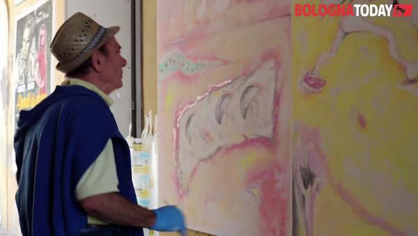 Biennale del muro dipinto a Dozza: ecco lo spettacolo degli artisti all'opera\VIDEO