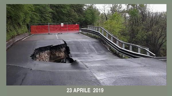 VIDEO | Strada provinciale tra Vado e Gardelletta: l'evoluzione del crollo nei diversi mesi