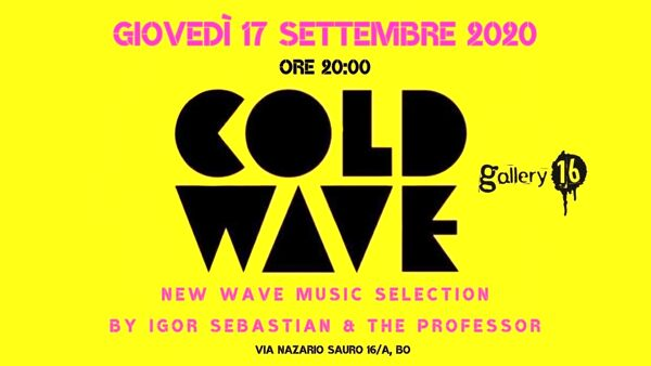 Cold wave new wave music selection al Gallery16