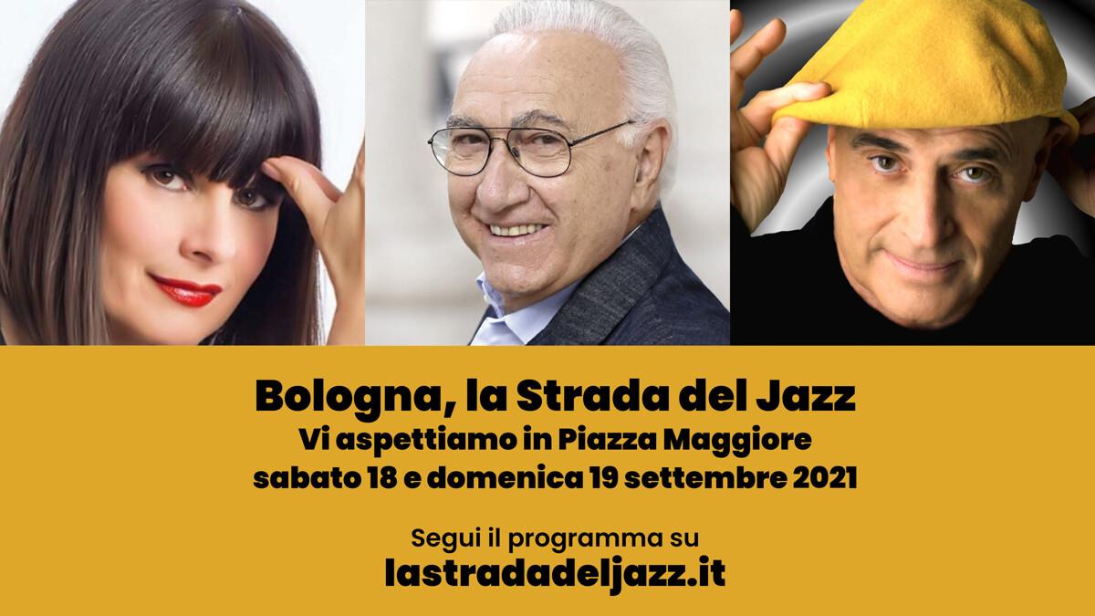 """""""La strada del jazz"""": in Piazza Maggiore Pippo Baudo, Silvia Mezzanotte ed Edoardo Vianello"""