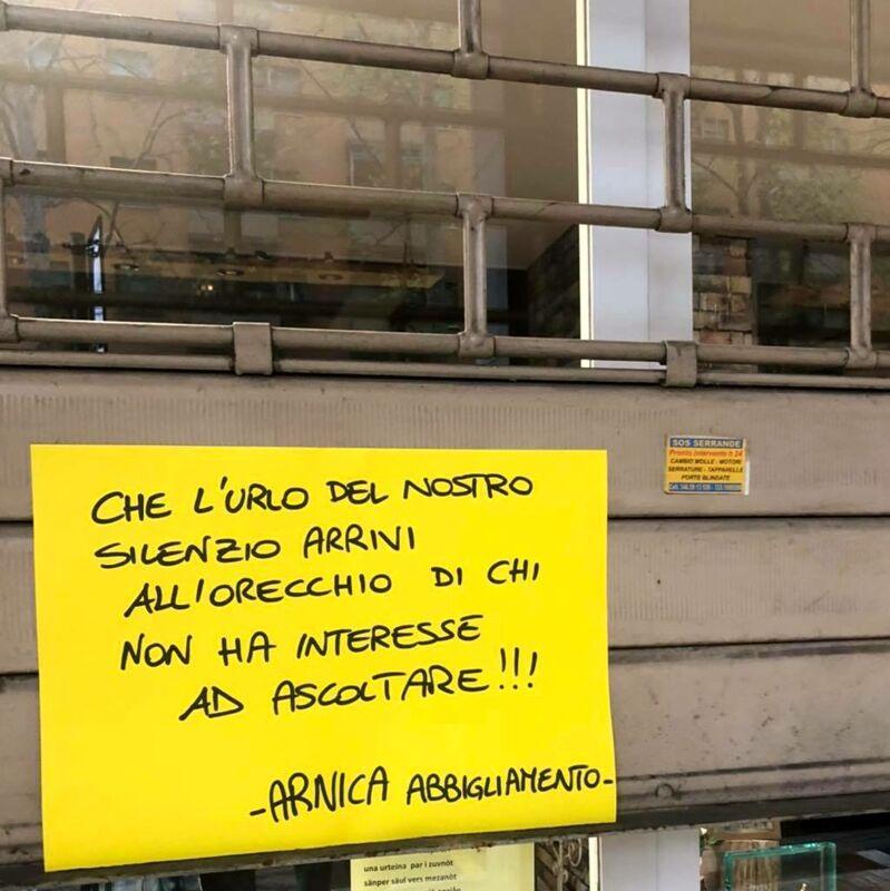 """Serrata in zona Murri, la protesta silenziosa dei commercianti. Aitini: """"Drammatica urgenza di ripartire"""""""