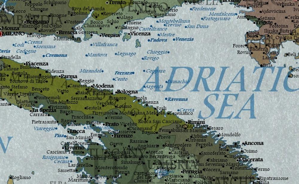 Cartina Italia Javascript.L Italia Nell Anno 2100 Secondo Una Mappa Inglese Bologna Sara Sul Mare