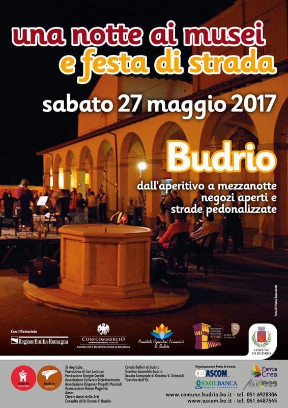 """""""Una notte ai musei"""" e """"Festa di Strada"""" a Budrio"""