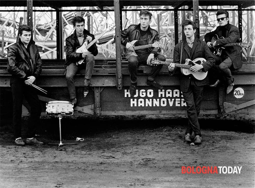 astrid kirchherr with the beatles-3