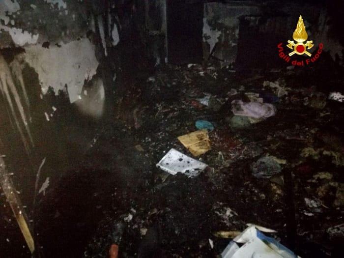 Incendio casa scipione ferro 449011417_481191