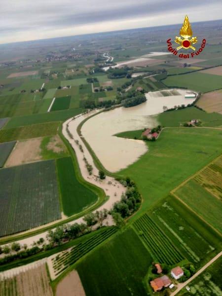piena fiume sillaro aerea 1