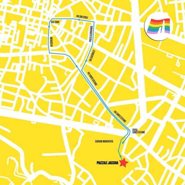 Bologna Pride 2019 percorso-2