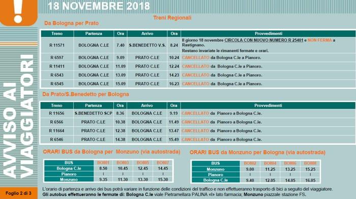 treni regionali cancellati 18 novembre bomba rastignano-2