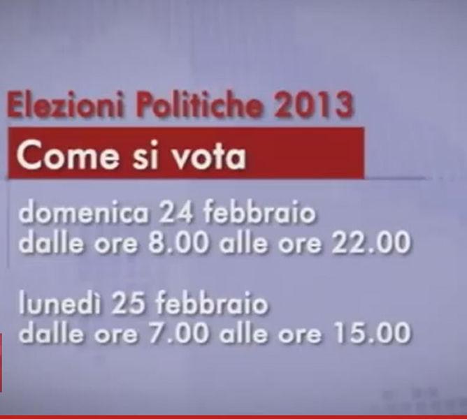 Politiche 2013_Come si vota